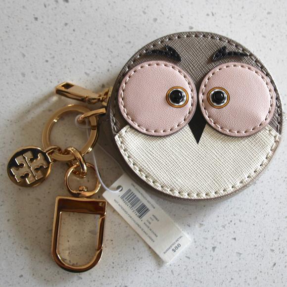 5088086b966 NEW Tory Burch Owl coin pouch key fob
